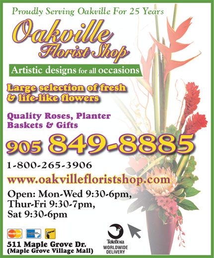 Ads Oakville Florist Shop