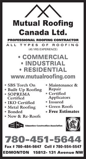 Ads Mutual Roofing Canada Ltd