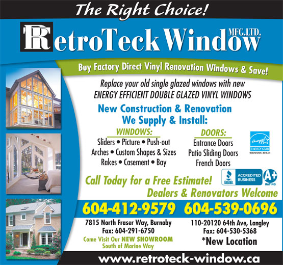 Ads Retro Window Mfg Ltd