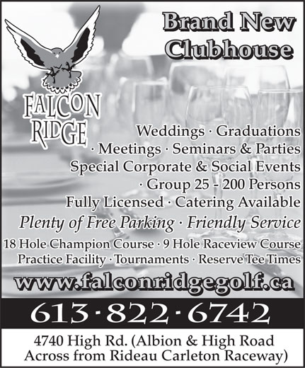 Ads Falcon Ridge Golf Club
