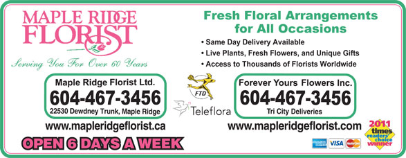 Ads Maple Ridge Florist Ltd