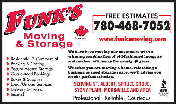 Ads Funk's Moving & Storage