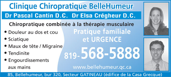 Ads Clinique Chiropratique Bellehumeur