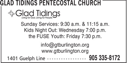 Ads Glad Tidings Pentecostal Church