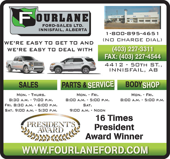 Ads Fourlane Ford Sales Ltd
