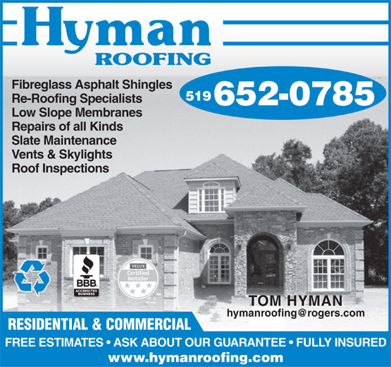 Ads Hyman Roofing