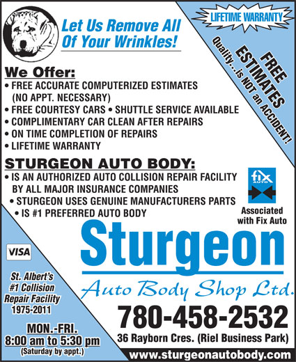 Ads Sturgeon Auto Body Shop Ltd