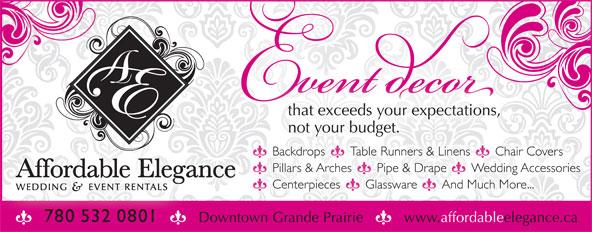 Affordable Elegance Wedding Decoration Rentals