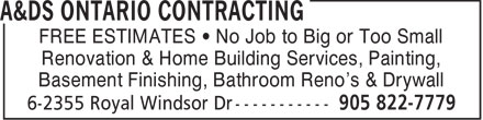 Ads A&amp;DS Ontario Contracting