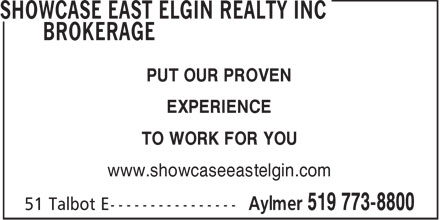 Ads Showcase East Elgin Realty Inc Brokerage