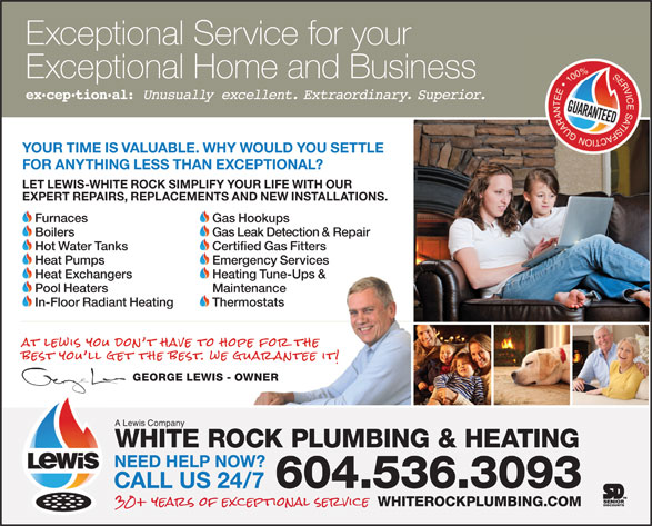 Ads White Rock Plumbing & Heating