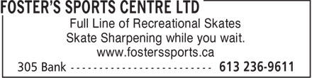 Ads Foster's Sports Centre Ltd