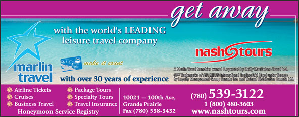 Ads Marlin Travel - Nash Tours