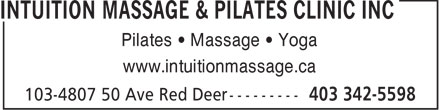 Ads Intuition Massage & Pilates Clinic Inc