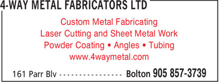 Ads 4-Way Metal Fabricators Ltd
