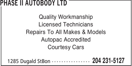 Ads Phase II Autobody Ltd