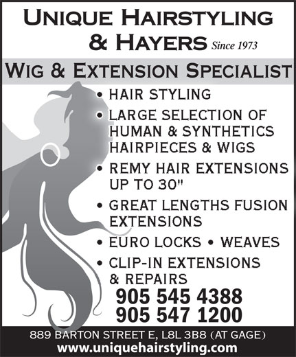 Ads Unique Hairstyling Hayers