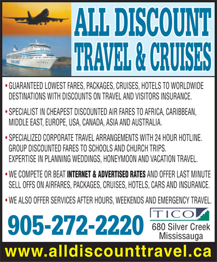 Ads All Discount Travel & Cruises