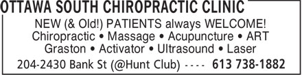 Ads Ottawa South Chiropractic Clinic