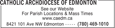 Ads Catholic Archdiocese Of Edmonton
