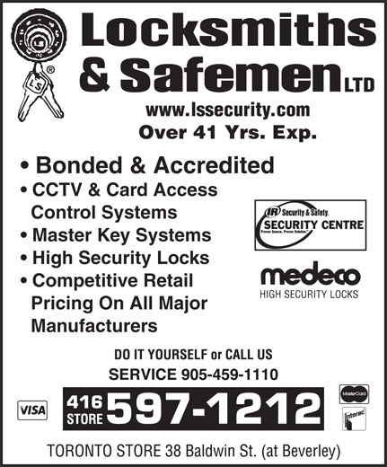 Ads Locksmiths &amp; Safeman Security Hardware Ltd