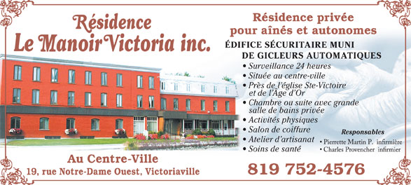Ads Residence Le Manoir Victoria Inc