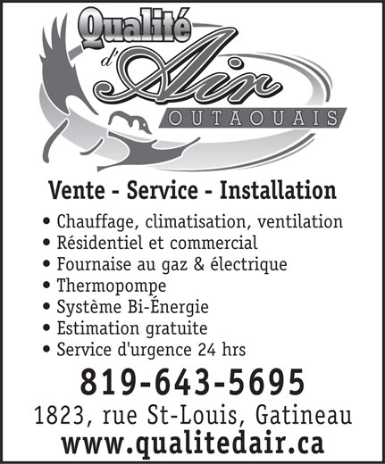 Ads Qualit D&#039;Air Outaouais