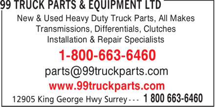 Ads 99 Truck Parts &amp; Equipment Ltd