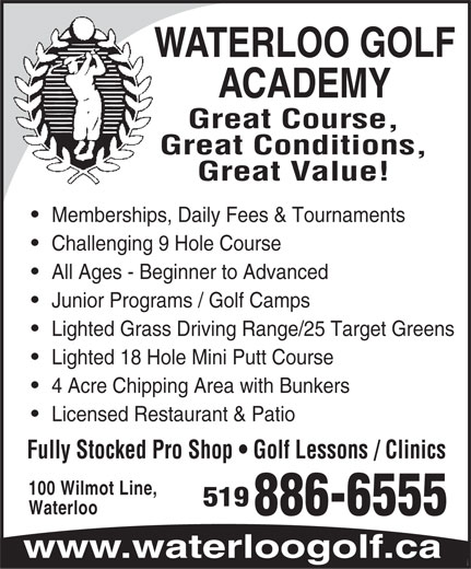 Ads Waterloo Golf Academy