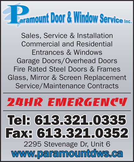 Ads Paramount Door & Window Service