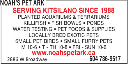 Ads Noah's Pet Ark