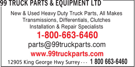 Ads 99 Truck Parts & Equipment Ltd