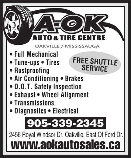 Ads A OK Auto &amp; Tire Centre