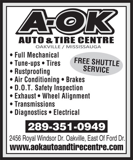 Ads A OK Auto & Tire Centre