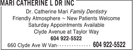 Ads Mari Catherine L Dr Inc