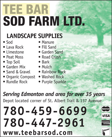 Ads Tee Bar Sod Farms Ltd