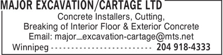 Ads Major Excavation/Cartage Ltd