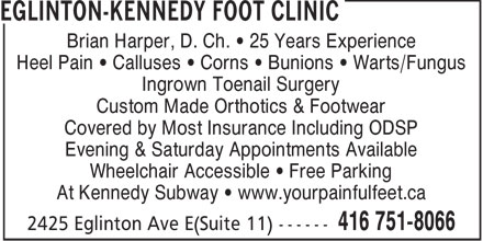 Ads Eglinton-Kennedy Foot Clinic