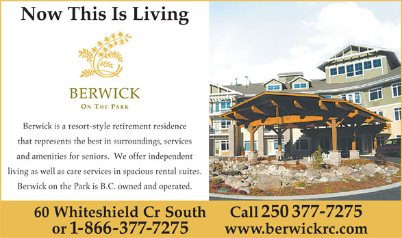 Ads Berwick On The Park Retirement Residence