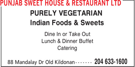 Ads Punjab Sweet House & Restaurant Ltd