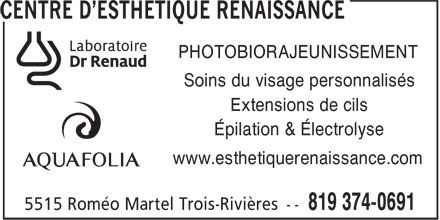 Ads Centre d&#039;Esthtique Renaissance