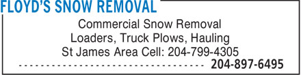 Ads Floyd&#039;s Snow Removal