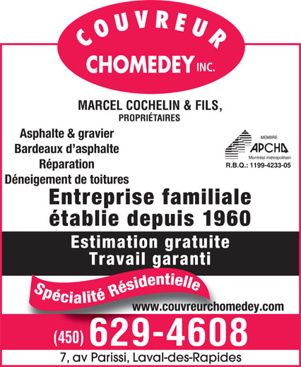 Ads Chomedey Roofing Inc