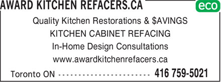 Ads Award Kitchen Refacers.ca