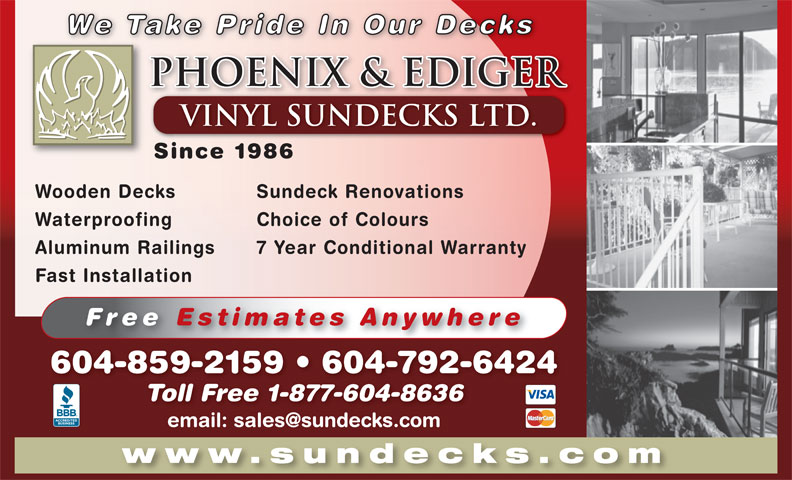 Ads Phoenix & Ediger Vinyl Sundecks Ltd