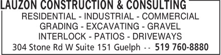 Ads Lauzon Construction & Consulting