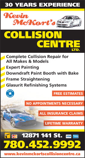 Ads Kevin Mckort's Collision Center Ltd
