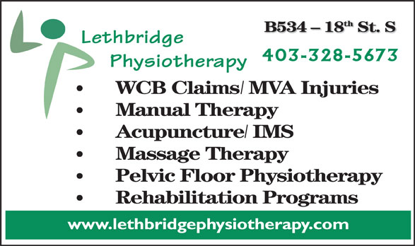 Ads Lethbridge Physiotherapy Ltd