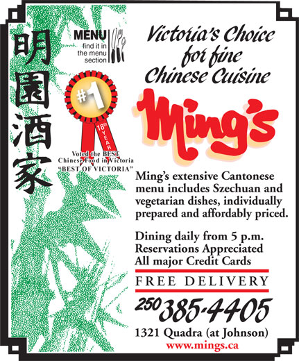 Ads Ming's Restaurant