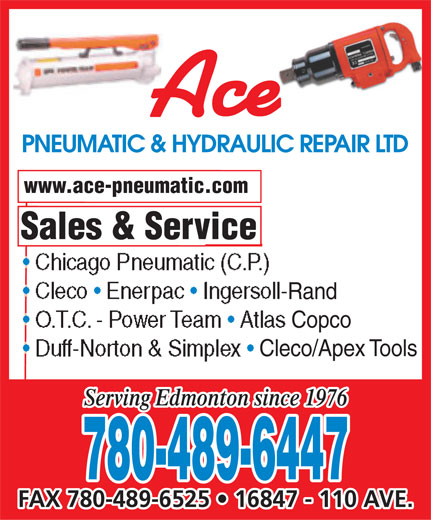 Ads Ace Pneumatic & Hydraulic Repair Ltd